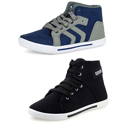 04339f7e83 ... Chevit Men s COMBO Stylish Casual Shoes (Sneakers + Sports Shoes) ...