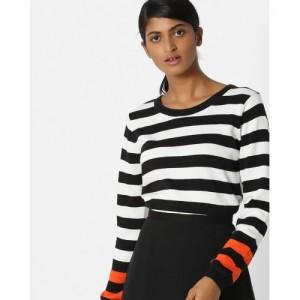 Teamspirit Cotton Striped Pullover