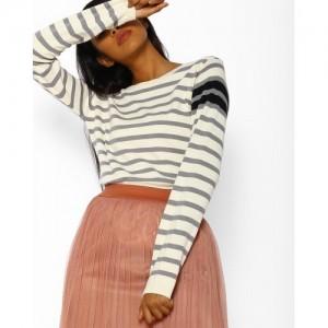 Teamspirit Striped Cotton Pullover