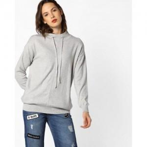 Teamspirit Flat Knit Drawstring Pullover