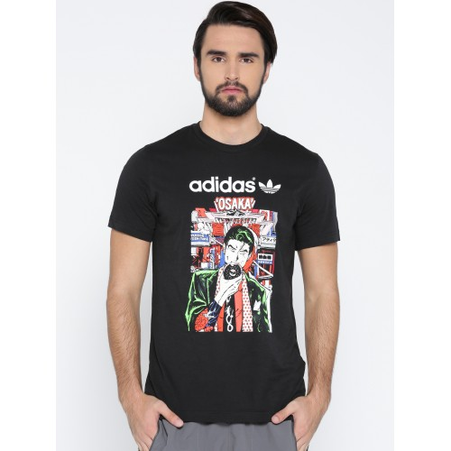 Imperialismo templado Halar  Buy Adidas Originals Men Black Artist City Printed Round Neck T-shirt  online | Looksgud.in