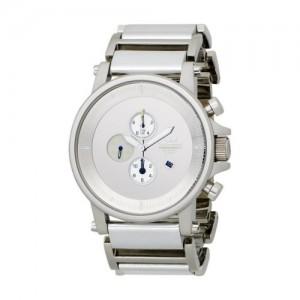 Vestal Unisex PLE023 Plexi Leather Silver Watch