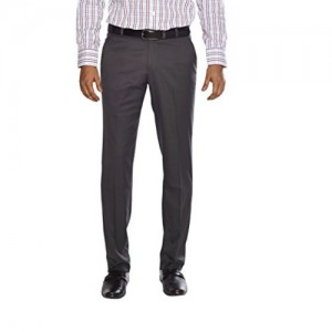 Flags Gray Poly Viscose Stretch Formal Trouser