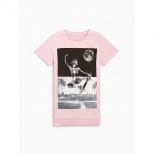 Next Boys Pink Printed T-shirt