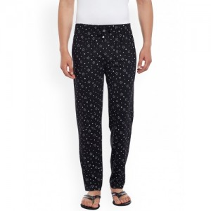 VIMAL Black Printed Lounge Pants D1-PRT-NO.1