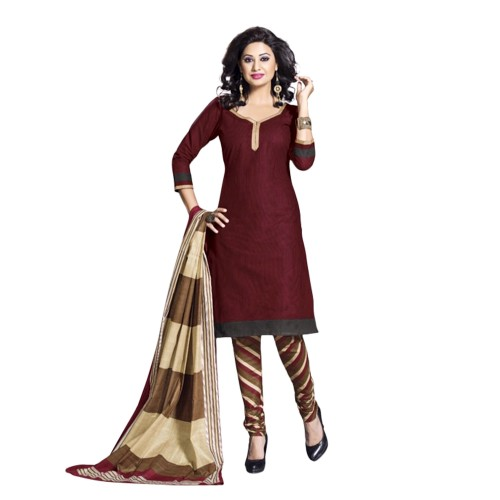 008ceeecea ... Drapes Maroon Dupion Silk Plain Salwar Suit Dress Material ...