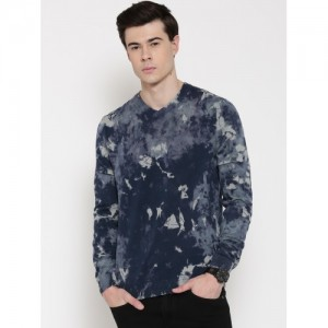 United Colors of Benetton Blue Printed Sweater