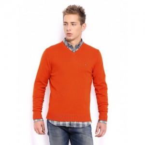 Tommy Hilfiger Men Orange Pacific Sweater