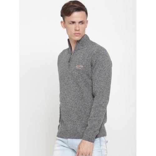 U.S. Polo Assn. Men Grey Solid Sweater