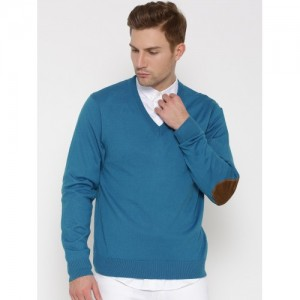 U.S. Polo Assn. Blue Merino Wool Sweater