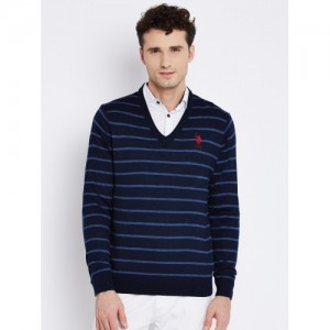 2d7997fb1 Buy U.S. Polo Assn. Multicoloured Striped Lambswool Sweater online ...