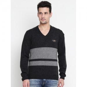U.S. Polo Assn. Men Grey Striped Sweater