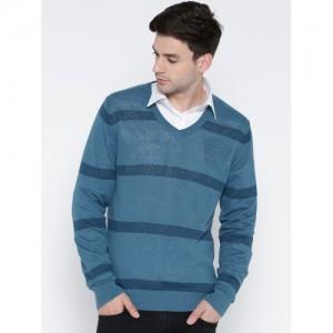 U.S. Polo Assn. Men Blue Striped Sweater