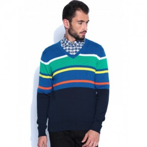 U.S. Polo Assn. Blue Striped Sweater