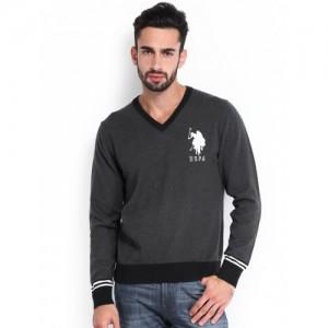 U.S. Polo Assn. Men Grey Sweater