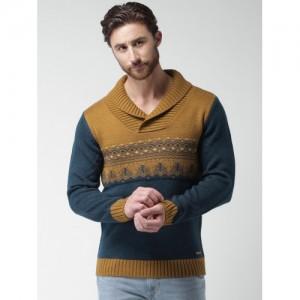 Mast & Harbour Navy & Brown Sweater