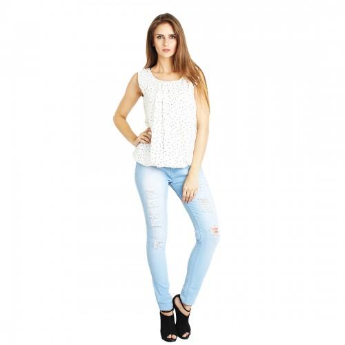 c2077ea98b6a2 Buy Fuego Fashion Wear Damage Denim Jeans For Women online