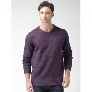 Mast & Harbour Purple & Maroon Sweater