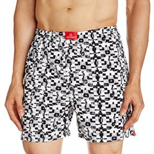 Jockey Men's Cotton Woven Boxer Shorts (8901326135143_US22_Medium_Blue and White1)