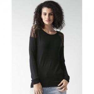 ALCOTT Women Black Sweater