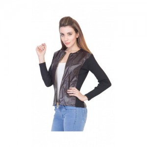Simmer Brown Faux Leather Jacket