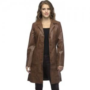 Chik Fab Full Sleeve Solid Women's Long Jacket