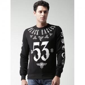 ALCOTT Black Printed Sweatshirt