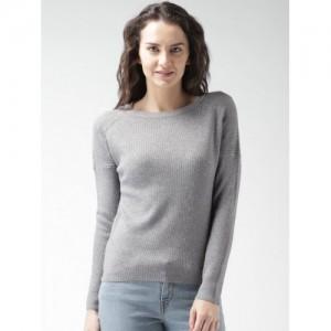 Mast & Harbour Women Grey Sweater