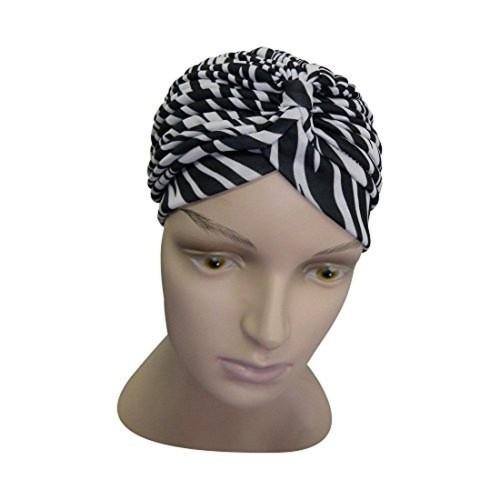 Landana Headscarves Animal Print Turban Twist Pleated Hair Wrap Stretch Turban Womens Head Cover