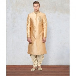 Yepme Golden Blended Printed Sherwani