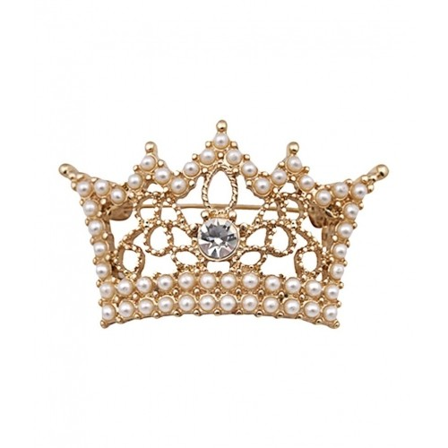 Cinderella By Shining Diva Fashion Jewelry  Golden Crown Design Brooch