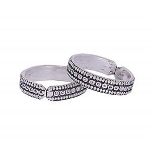 Silver Shop Paisley Silver Toe Rings For Women