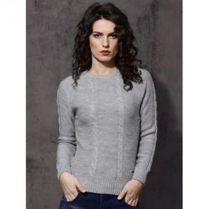 Roadster Women Grey Self-Design Sweater