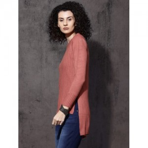 Roadster Women Pink Striped Pullover