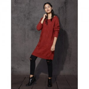 RDSTR Women Red Solid Pullover