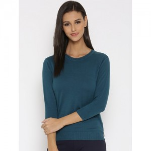United Colors of Benetton Teal Blue Sweater