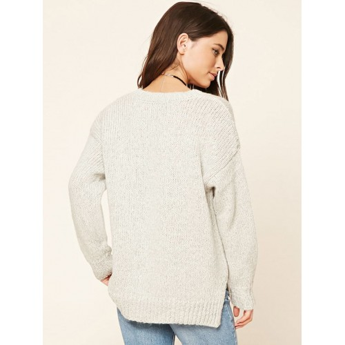 Buy Forever 21 Women Grey Cable Knit Sweater Online Looksgud