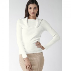 FOREVER 21 Women White Solid Sweater