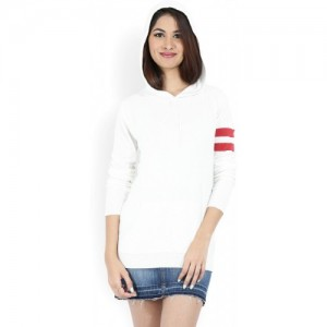 FOREVER 21 Women Off-White Solid Sweater