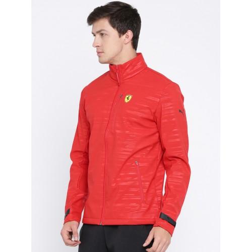 43de110a619a Buy Puma Ferrari Men Red SF Softshell Printed Sporty Jacket online ...