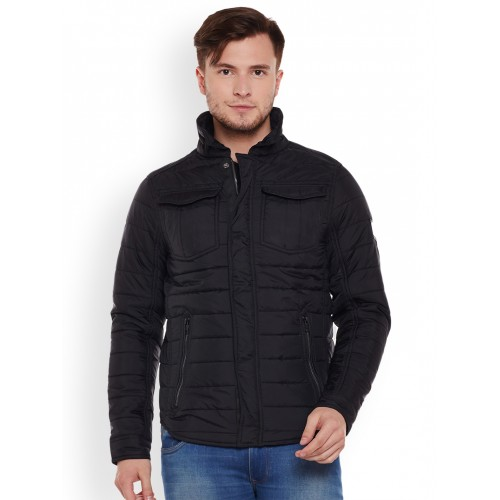Buy Tom Tailor Men Black Solid Quilted Jacket online   Looksgud.in ffd2ab2d0a