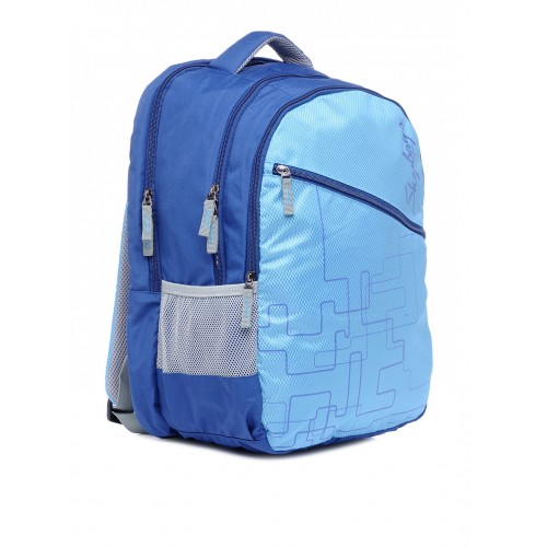 Skybags Unisex Blue Polyester Printed Backpack