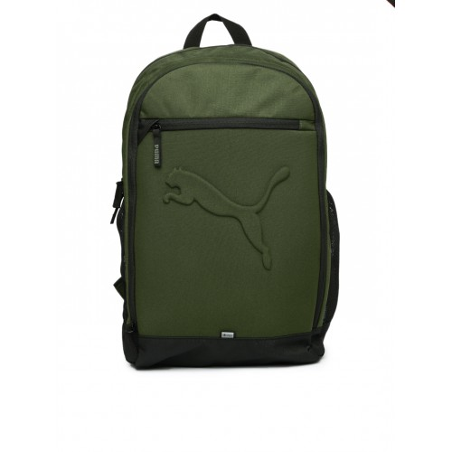 Buy Puma Unisex Olive Green Buzz Backpack online  df58977eaa2c3