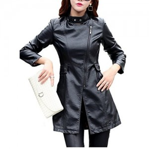 HugMe.fashion Black Genuine Leather Long Jacket