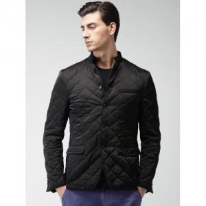 INVICTUS Black Slim Fit Quilted Jacket