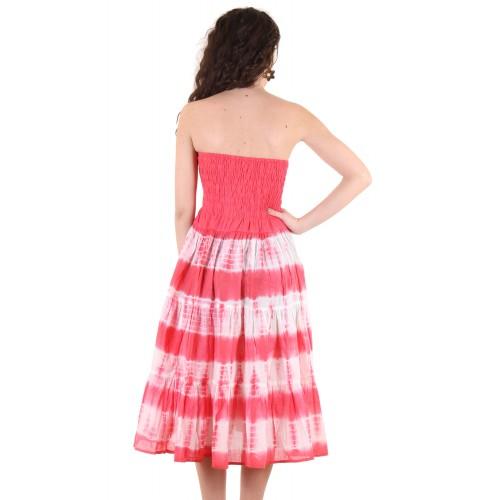 41244cb5eaf Buy Ruhaans Pink Cotton Off Shoulder Knee Length Tube Dress online ...