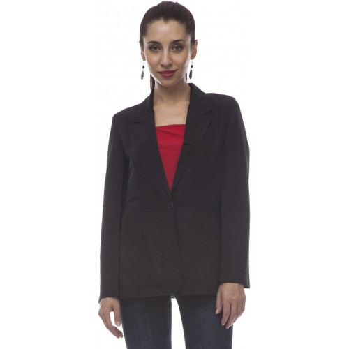 @499 Solid Single Breasted Casual Women's Blazer