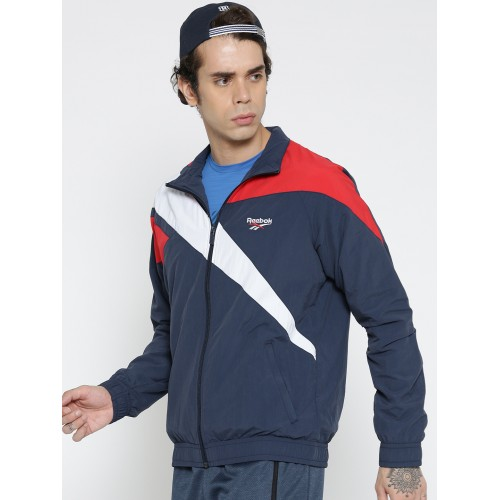 0865dc94ae3d0 Buy Reebok Classic Men Navy LF VECTOR TRACKTOP Colourblocked Jacket ...