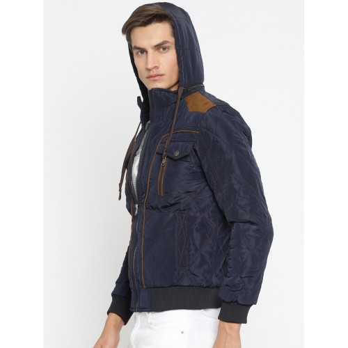 Buy Four One Oh Navy Quilted Jacket With Detachable Hood Online