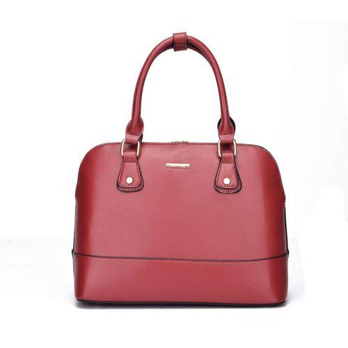 Diana Korr Red Pu Solid Shoulder Bag